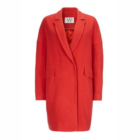 Wallis red relaxed coat