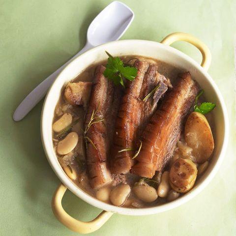 Belly Pork and butter beans pot