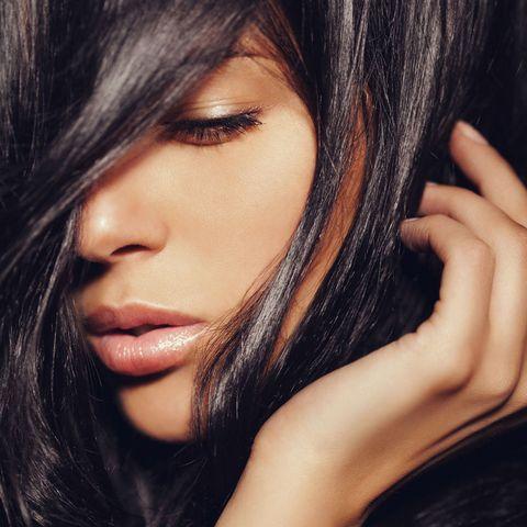 Woman shiny hair