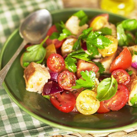 Panzanella Recipe Italian Style Tomato Salad With Ciabatta And Fresh Herbs