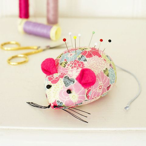 Turn Leftover Fabric Into A Cute Mouse Pincushion