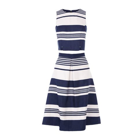 Oasis block stripe crop top and full skirt
