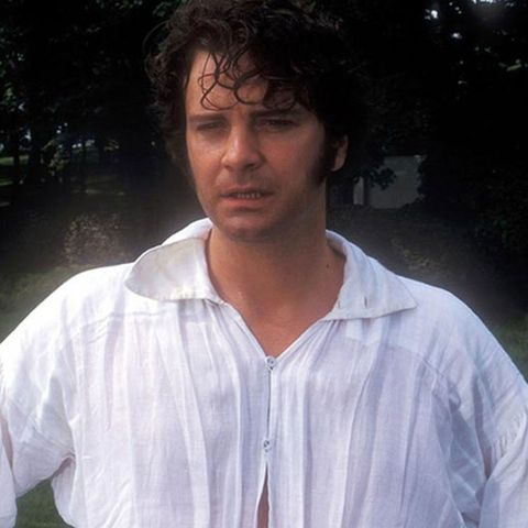 Actor Colin Firth playing Mr Darcy