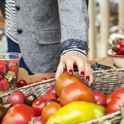 Woman food shopping