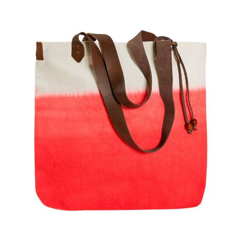 Two tone beach bag tote