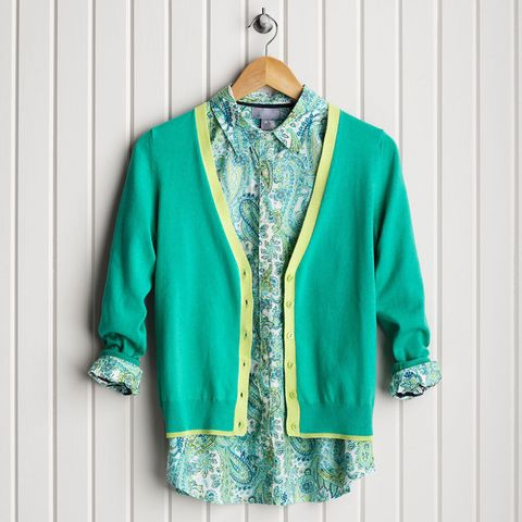 Shirt and blouse on hanger