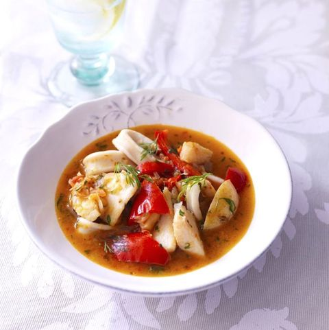 Red pepper and fish stew