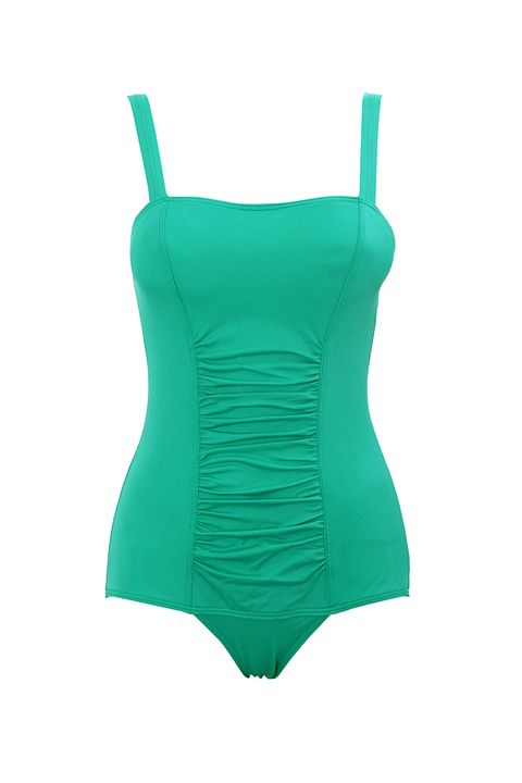 BHS green tummy control swimsuit