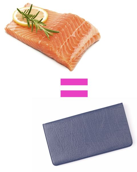 One serving size of salmon