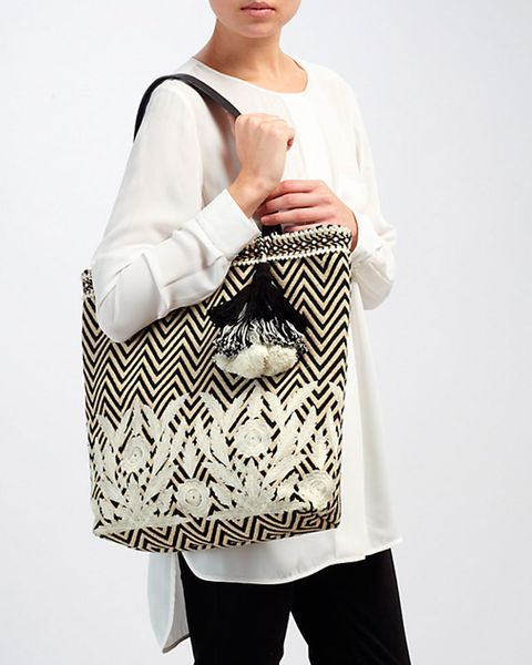 Collection Weekend by John Lewis zig-zag shopper bag