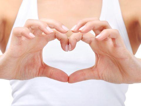 Woman hands heart shape