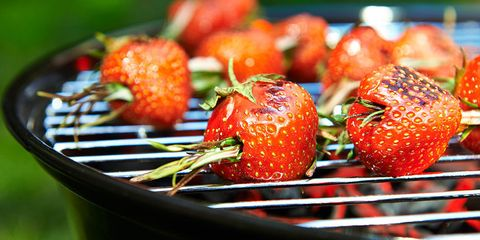 Grilled strawberries