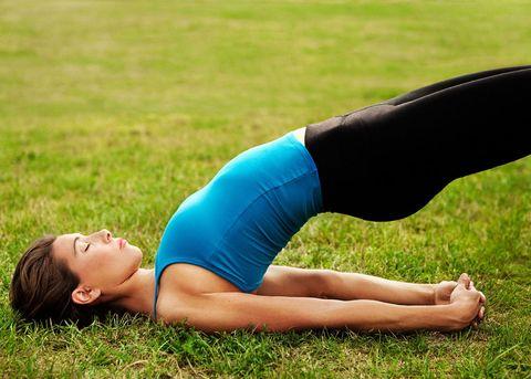 Woman back exercises