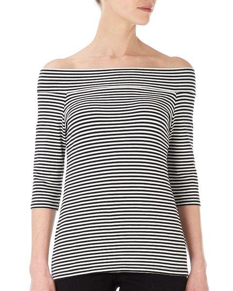 Wallis monochrome stripe top
