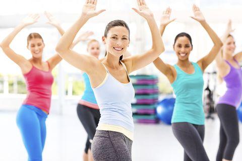 Women in dance exercise class