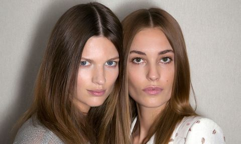 Models with straight hair