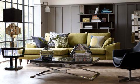 Modern living room with DFS Quartz sofa