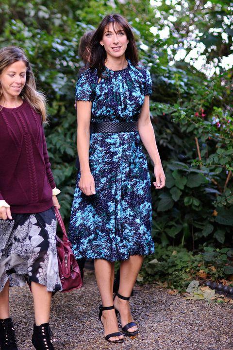 Samantha-Cameron-in-floral-print-dress
