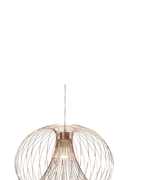 Copper cage pendant ceiling light