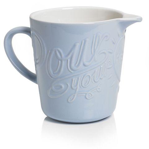 Pastel blue pouring jug