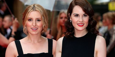 Laura Carmichael and Michelle Dockery at the Downton Abbey BAFTA evening