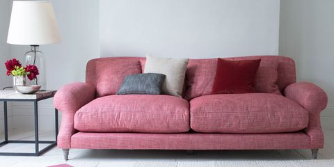 Large pink Crumpet sofa from Loaf