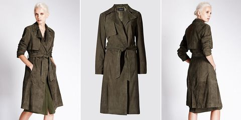 Marks and Spencer suede trench coat