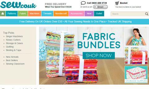 Sew.co.uk homepage