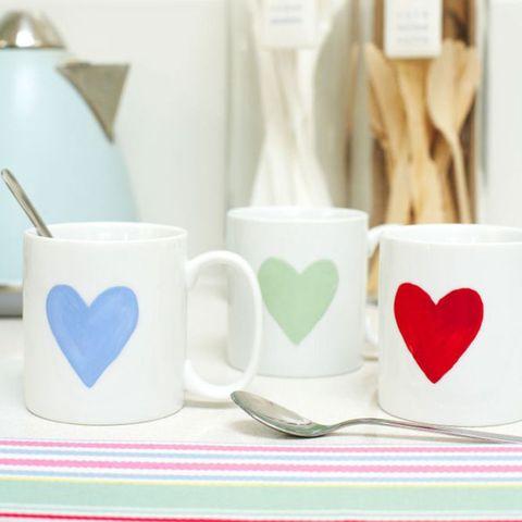 Heart personalised mugs