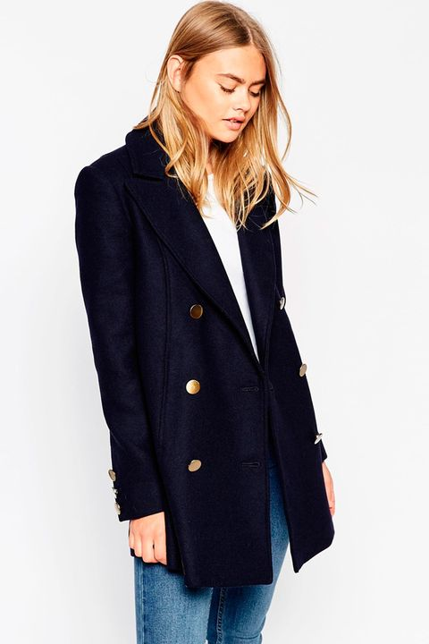 Asos Peacoat With Double Breast
