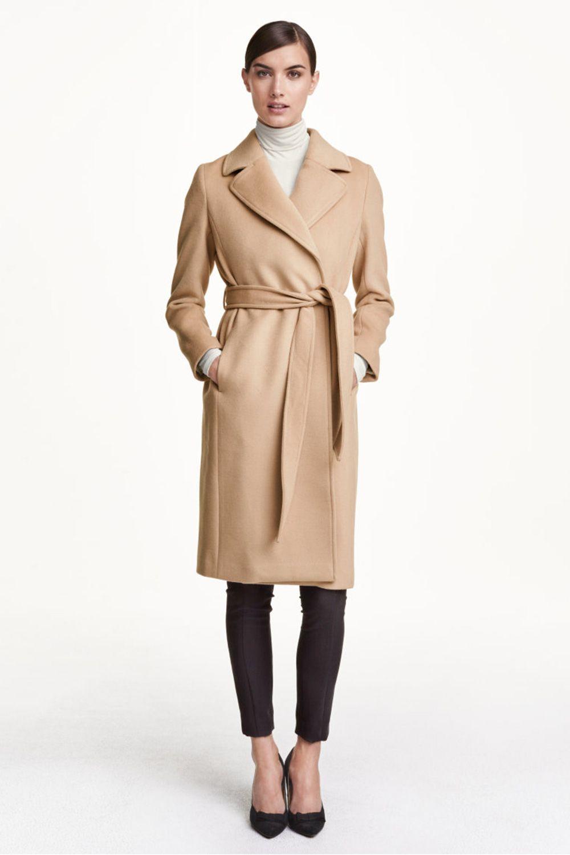 H&M Coat In Wool Blend