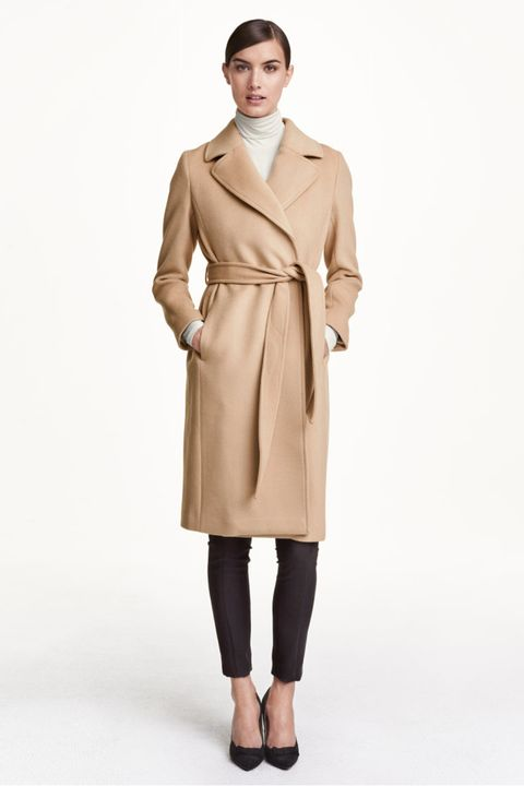 H&M Coat In Wool Blend