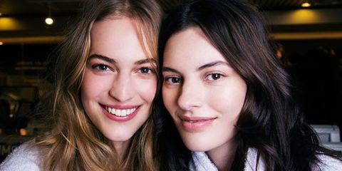 Beauty models smiling