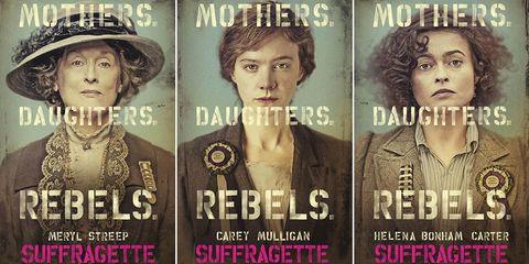 Suffragette Carey Mulligan