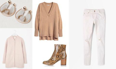 How to wear white denim in autumn