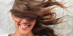 Woman hair wind