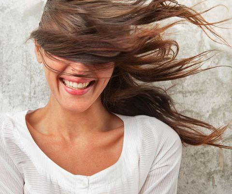 Woman hair wind