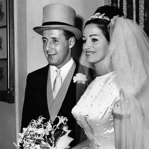 Jackie Collins wedding day