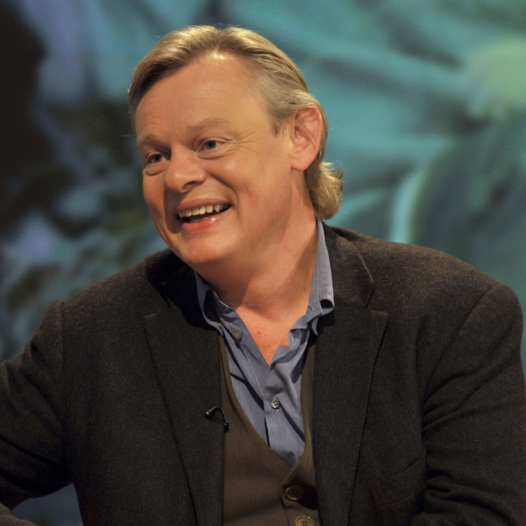 Martin Clunes appearing on BBC Breakfast, September 15th 2008. (Photo by Jeff Overs/BBC News & Current Affairs via Getty Images)