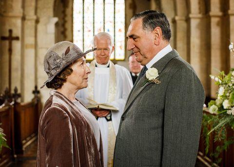 Downton Abbey Mrs Hughes Mr Carson wedding