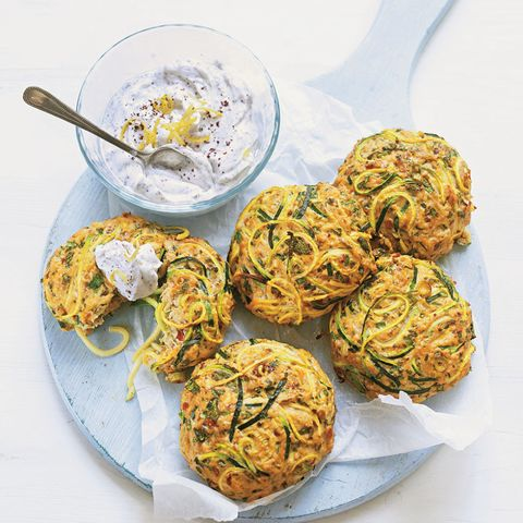 Spiralizer Moroccan courgette and turkey burgers