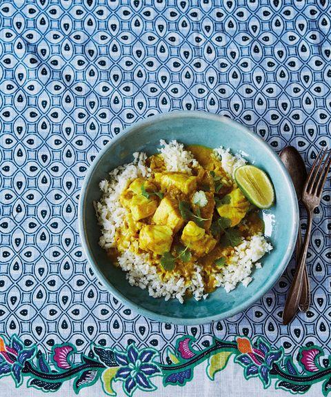 Fish curry with cauliflower rice