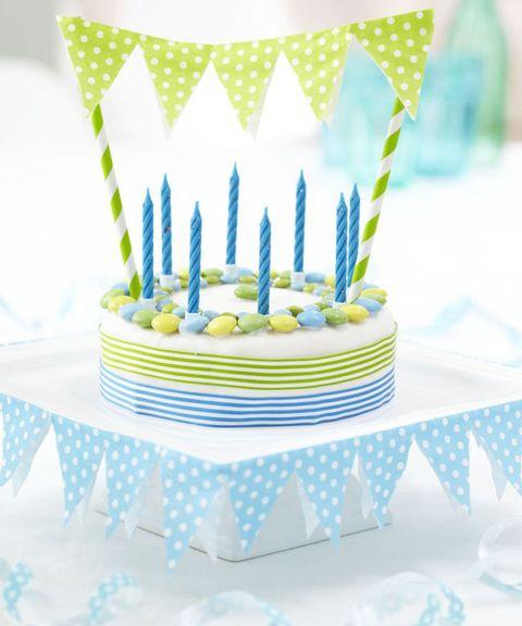 Bunting cake decorations