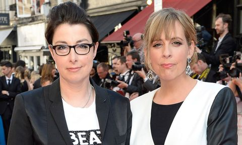 Sue Perkins and Mel Giedroyc on the red carpet