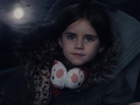 John Lewis Christmas advert 2015 girl looking at moon