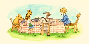 original illustration for winnie the pooh