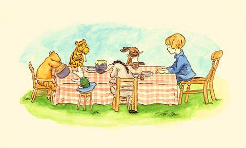 original illustration for winnie the pooh