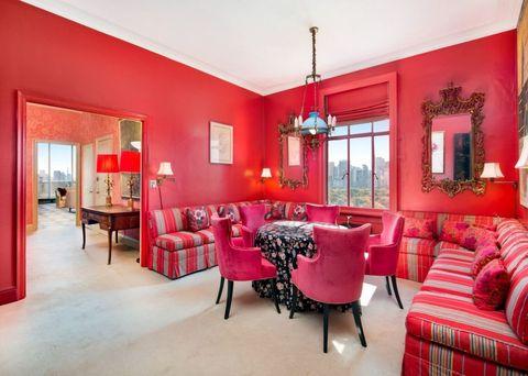 Helen Gurley Brown pink dining room