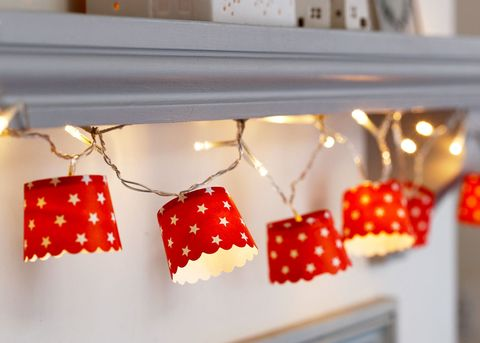 Christmas fairy lights paper cups