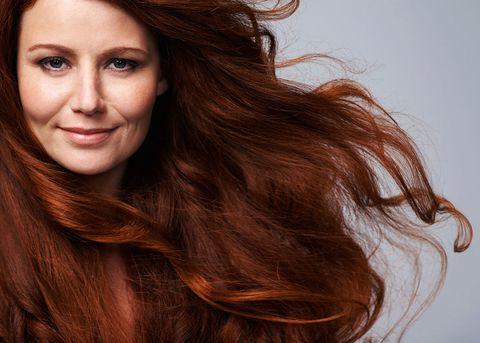 Woman thick hair